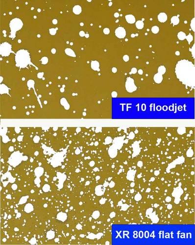 Flat fan vs flood nozzles pace turf gallery